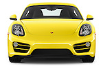 Car photography straight front view of a 2016 Porsche Cayman 3 Door Coupe Front View