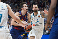 Real Madrid Ante Tomic and FC Barcelona Lassa Thomas Heurtel during Turkish Airlines Euroleague match between Real Madrid and FC Barcelona Lassa at Wizink Center in Madrid, Spain. December 14, 2017. (ALTERPHOTOS/Borja B.Hojas) /NortePhoto.com NORTEPHOTOMEXICO