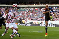 Action photo during the match United States vs Paraguay, Corresponding to  Group -A- of the America Cup Centenary 2016 at Lincoln Financial Field Stadium.<br /> <br /> Foto de accion durante el partido Estados Unidos vs Paraguay, Correspondiente al Grupo -A- de la Copa America Centenario 2016 en el Estadio Lincoln Financial Field , en la foto: (i-d), Derlis Gonzalez de Paraguay y John Brooks de USA<br />  <br /> <br /> 11/06/2016/MEXSPORT/Osvaldo Aguilar.