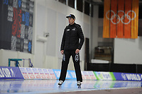 SPEEDSKATING: SALT LAKE CITY: 07-12-2017, Utah Olympic Oval, training ISU World Cup, Jeremy Wotherspoon (trainer/coach), ©photo Martin de Jong