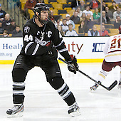 Myles Harvey (PC - 44) - The Boston College Eagles defeated the Providence College Friars 4-2 in their Hockey East semi-final on Friday, March 16, 2012, at TD Garden in Boston, Massachusetts.