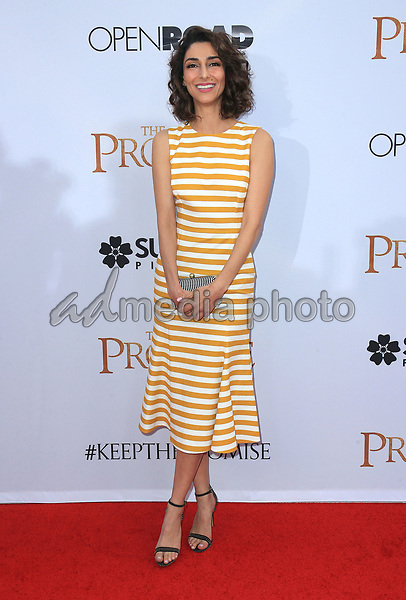 """12 April 2017 - Hollywood, California - Necar Zadegan. Premiere Of Open Road Films' """"The Promise"""" held at TCL Chinese Theatre. Photo Credit: AdMedia"""