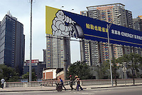 Michelin billboard in Beijing, China..