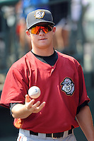 Altoona Curve pitcher Tyler Waldron (13) during game against the Trenton Thunder at Samuel L. Plumeri Sr. Field at Mercer County Waterfront Park on August 22, 2012 in Trenton, NJ.  Altoona defeated Trenton 14-2.  Tomasso DeRosa/Four Seam Images