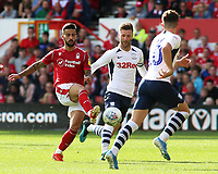 Preston North End's Paul Gallagher chases down Nottingham Forest's Tiago Silva<br /> <br /> Photographer David Shipman/CameraSport<br /> <br /> The EFL Sky Bet Championship - Nottingham Forest v Preston North End - Saturday 31st August 2019 - The City Ground - Nottingham<br /> <br /> World Copyright © 2019 CameraSport. All rights reserved. 43 Linden Ave. Countesthorpe. Leicester. England. LE8 5PG - Tel: +44 (0) 116 277 4147 - admin@camerasport.com - www.camerasport.com
