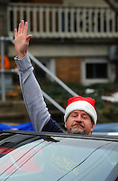 12/1/12 12:22:54 PM - Souderton, PA: .Parade Grand Marshall, Preston Elliot of Philadelphia radio station WMMR waves to the crowd during the Souderton/Telford Holiday Parade December 1, 2012 in Souderton, Pennsylvania -- (Photo by William Thomas Cain/Cain Images)