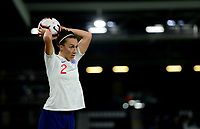 Lucy Bronze of England takes a throw in during the Women's International friendly match between England Women and Australia at Ashton Gate, Bristol, England on 9 October 2018. Photo by Bradley Collyer / PRiME Media Images.
