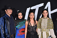 LOS ANGELES, CA. February 05, 2019: Robert Rodriguez, Lana Condor, Rosa Salazar &amp; Jennifer Connelly at the premiere for &quot;Alita: Battle Angel&quot; at the Regency Village Theatre, Westwood.<br /> Picture: Paul Smith/Featureflash