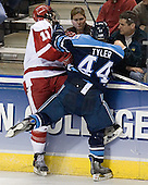Jake Dowell, Bret Tyler - The University of Wisconsin Badgers defeated the University of Maine Black Bears 5-2 in their 2006 Frozen Four Semi-Final meeting on Thursday, April 6, 2006, at the Bradley Center in Milwaukee, Wisconsin.  Wisconsin would go on to win the Title on April 8, 2006.