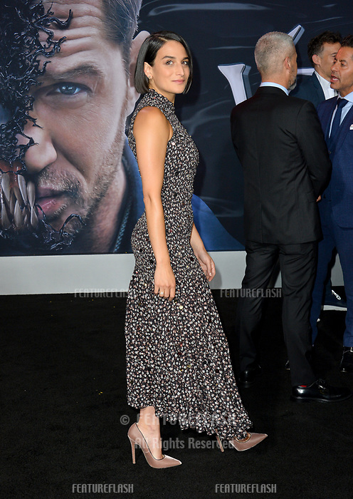 """LOS ANGELES, CA. October 01, 2018: Jenny Slate at the world premiere for """"Venom"""" at the Regency Village Theatre.<br /> Picture: Paul Smith/Featureflash"""