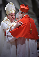 New Cardinal, Spanish prelate Cristobal Lopez Romero , during an Ordinary Public Consistory for the creation of new cardinals on October 5, 2019 in the Vatican. Pope Francis appoints 13 new cardinals at the 2019 Ordinary Public Consistory, choosing prelates whose lifelong careers reflect their commitment to serve the marginalized and local church communities, hailing from 11 different nations and representing multiple religious orders.