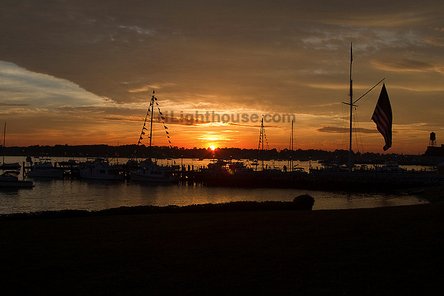 Sunset over Bristol Harbor