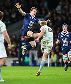 7th December 2017, Twickenham Stadium, London, England; The Varsity Match, Cambridge versus Oxford;  Oxfords winger Tom Stileman goes ariel to challenge Cambridges Charlie Amesbury's clearance kick