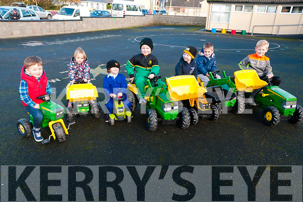 Moyvane Village Fesatival; Attending the Moyvane Village Festival on Sunday last and taking part in first tractor run for kids were Jack McCarthy, Clodagh O'Connor, Ava Stack, Liam Kearney, Aaron Stack, Darren O'Connor & Conor Kennerlly.
