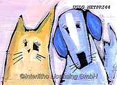 Nettie,REALISTIC ANIMALS, REALISTISCHE TIERE, ANIMALES REALISTICOS, paintings+++++Hilda&Hoover,USLGNETPRI44,#A#, EVERYDAY pop art