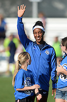 Kansas City, MO - Saturday July 16, 2016: Brianne Reed prior to a regular season National Women's Soccer League (NWSL) match between FC Kansas City and the Washington Spirit at Swope Soccer Village.