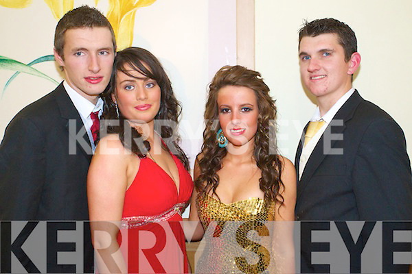John Joe O'Connell, Louise Guerin, Laura Long and James Dee pictured at Causeway Comprehensive Debs Ball at the Ballyroe Heights hotel on Thursday.