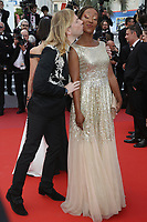 Nadege Beausson Diagne and Christophe Guillarmé attends the LES MISÉRABLES premiere -72nd annual Cannes Film Festival  Cannes France on May 15 2019.<br /> CAP/GOL<br /> ©GOL/Capital Pictures
