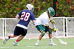 Orange, CA 05/16/15 - Patrick Ryan (Dayton #28) and Dillon Bernad (Concordia #8) in action during the 2015 MCLA Division II Championship game between Dayton and Concordia, at Chapman University in Orange, California.