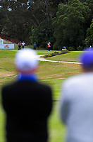Fiona Xu on the 16th. Day two of the Jennian Homes Charles Tour / Brian Green Property Group New Zealand Super 6s at Manawatu Golf Club in Palmerston North, New Zealand on Friday, 6 March 2020. Photo: Dave Lintott / lintottphoto.co.nz