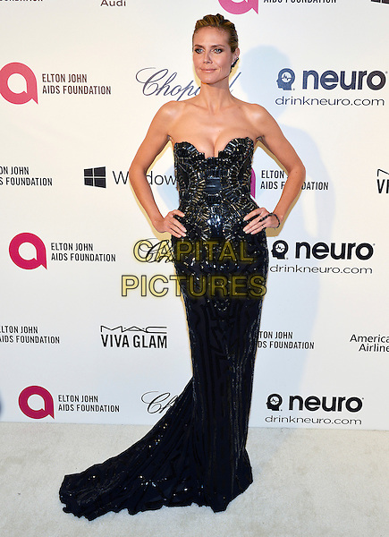 02 March 2014 - West Hollywood, California - Heidi Klum. 22nd Annual Elton John Academy Awards Viewing Party held at West Hollywood Park.  <br /> CAP/ADM/CC<br /> &copy;ChewAdMedia/Capital Pictures