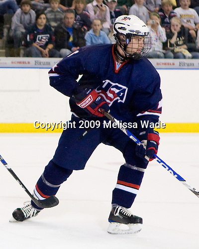 Jon Merrill (US - 6) - The US defeated Canada 2-1 at the Urban Plains Center in Fargo, North Dakota, on Friday, April 17, 2009, in their semi-final match during the 2009 World Under 18 Championship.