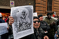 Rome, February 18, 2016<br /> Blitz the movements for the right to housing in the headquarters of the Provincial Directorate of the Montfort Missionaries against the eviction of the buildings occupied in Via Prenestina 1391 of property of the Montfort Missionaries.