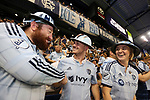 KANSAS CITY, KS - SEPTEMBER 20: SKC fans. Sporting Kansas City hosted the New York Red Bulls on September 20, 2017 at Children's Mercy Park in Kansas City, KS in the 2017 Lamar Hunt U.S. Open Cup Final. Sporting Kansas City won the match 2-1.