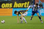 Nederland , Arnhem , 29 maart 2014<br /> Eredivisie<br /> seizoen 2013-2014<br /> Vitesse - Heerenveen<br /> Lucas Piazon (l) in duel met Heerenveen spits Bilal Basacikoglu (r)