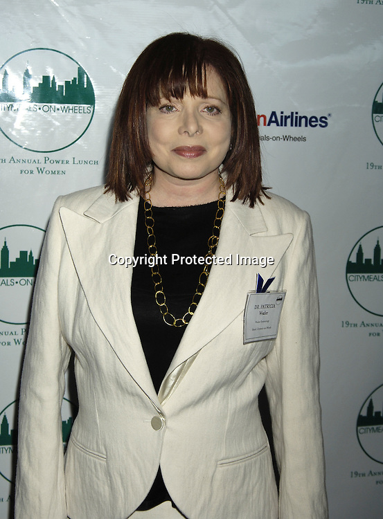 Dr Patricia Wexler ..at The Citymeals-on-Wheels 19th Annual Power Lunch for Women on November 18, 2005 at The Rainbow Room. ..Photo by Robin Platzer, Twin Images