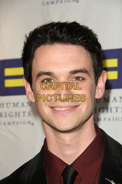 BRIAN NOLAN .The Human Rights Campaign's Annual Los Angeles Gala & Hero Awards held at the Hyatt Regency Plaza Hotel, Century City, California, USA, .14th March 2009..portrait headshot red black shirt tie .CAP/ADM/KB.©Kevan Brooks/Admedia/Capital PIctures