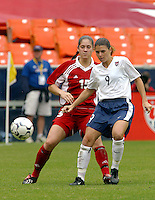 Mia Hamm, USWNT vs Canada April 26, 2003.