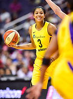 Washington, DC - June 15, 2018: Los Angeles Sparks forward Candace Parker (3) during game between the Washington Mystics and Los Angeles Sparks at the Capital One Arena in Washington, DC. (Photo by Phil Peters/Media Images International)