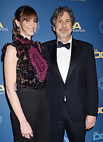 HOLLYWOOD, CA - FEBRUARY 02: Melinda Kocsis (L) and Peter Farrelly attend the 71st Annual Directors Guild Of America Awards at The Ray Dolby Ballroom at Hollywood &amp; Highland Center on February 02, 2019 in Hollywood, California.<br /> CAP/ROT/TM<br /> &copy;TM/ROT/Capital Pictures