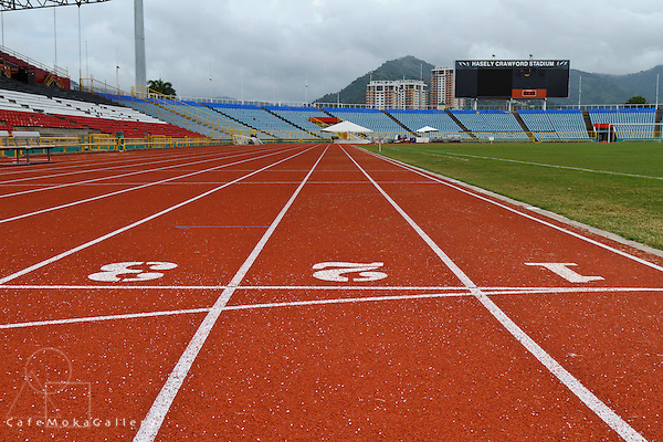 Haseley Crawford National Stadium - Running lanes 1,2,3 colours and linear pattern