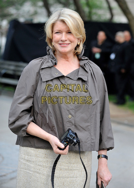 MARTHA STEWART .9th Annual Tribeca Film Festival - Vanity Fair Party held at at New York State Supreme Court, New York, NY, USA, .20th April 2010..half length cream dress skirt gold grey gray brown  jacket clutch bag camera .CAP/ADM/BM.©Bill Menzel/AdMedia/Capital Pictures.