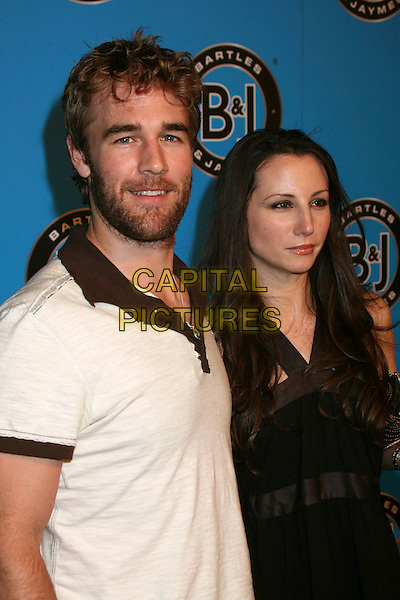 JAMES VAN DER BEEK & HEATHER McCOMB .Bartles & Jaymes Poolside BBQ at the Roosevelt Hotel, Hollywood, California, USA..May 10th, 2007.half length married husband wife beard facial hair white black.CAP/ADM/BP.©Byron Purvis/AdMedia/Capital Pictures