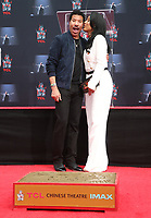 HOLLYWOOD, CA - MARCH 7: Lionel Richie and Lisa Parigi pictured at the Lionel Richie TCL Hand And Footprints Ceremony At The TCL Chinese Theatre IMAX In Hollywood, California on March 7, 2018. <br /> CAP/MPI/FS<br /> &copy;FS/MPI/Capital Pictures