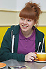 Teenager having a cup of tea. Cleared for Mental Health Issues.