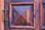 Mexico, Baja California Sur, Loreto, Mission Neustra Senora de Loreto, Posada De Las Flores Door (selective focus) (This image has a property release.)