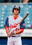 22 July 2018: Syracuse SkyChiefs infielder Drew Ward at bat against the Louisville Bats at NBT Bank Stadium in Syracuse, NY. The Bats defeated the Chiefs 3-1 in AAA International League play. Mandatory Credit: Ed Wolfstein Photo *** RAW (NEF) Image File Available ***