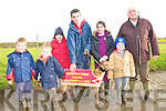 Ballyduff Coursing: Pat O'Connor,  Ballyduff, right, with his greyhound  Leigh Maeve, who won the Lowe's Bar Stake with Owen & Luke O'Connor, Aoife Allen, Jamie Allen (holding dog) Melissa & Dean Allen.