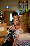 Sandra Pedigo-Marshall, of Seattle, WA samples wine at the Claiborne and Churchill Winery in San Luis Obispo, California December 20, 2014.