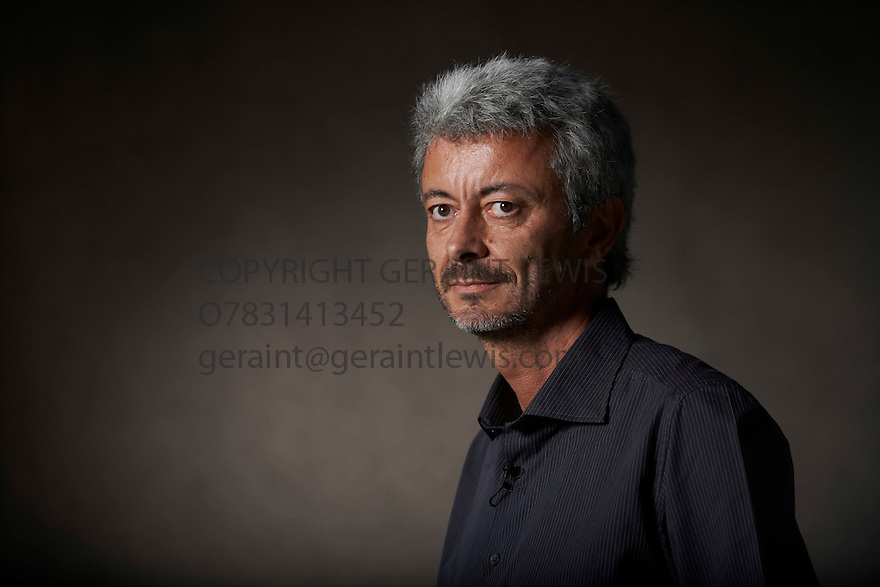 Carlos Gamerro Argentinian novelist   and writer  at The Edinburgh International Book Festival   . Credit Geraint Lewis
