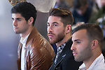 Real Madrid´s players Isco, Sergio Ramos and Jese attend the `Ningun nino sin regalo´ campaign in Madrid, Spain. January 05, 2015. (ALTERPHOTOS/Victor Blanco)