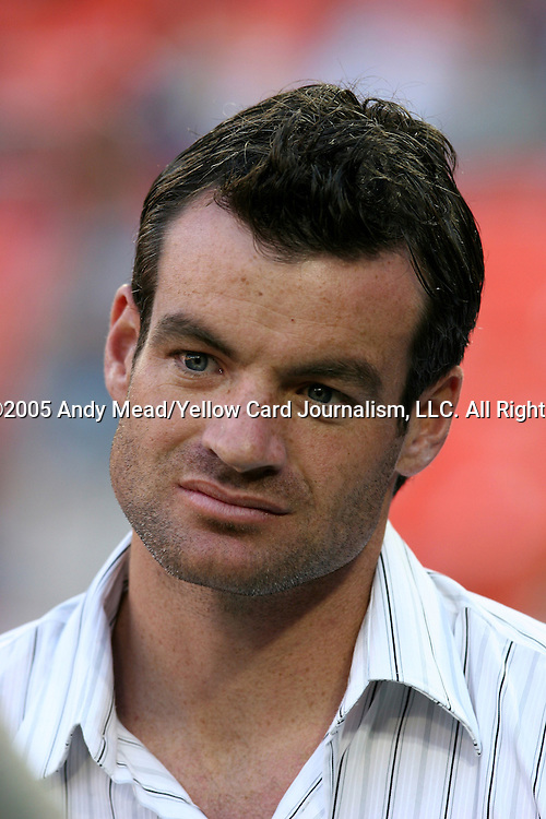21 May 2005: Ryan Nelsen, defender for Blackburn Rovers of the English Premier League and the New Zealand National Team, returns to DC to collect his 2004 MLS Cup Championship ring. Nelsen was player captain of DC United in 2004. DC United defeated the Kansas City Wizards 3-2 at RFK Stadium in Washington, DC in a regular season Major League Soccer game. . .