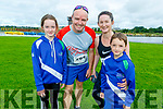 The Lucey family from Tralee ready at the Tralee Harriers Rose of Tralee 10k in the Tralee Wetlands on Sunday.<br />   L to r: Ellen, Niall and Tadgh Lucey and Dorren Brown.