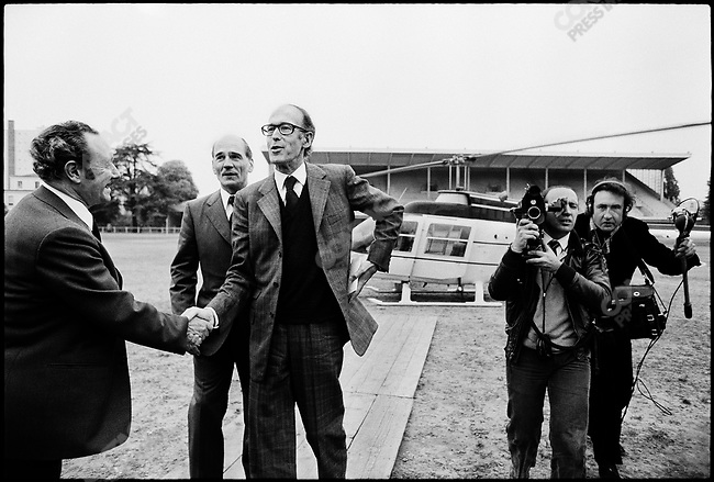 Raymond Depardon (right) covers then Finance minister Valery Giscard d'Estaing's presidential campaign, France, May 1974