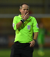 Referee Robert Lewis<br /> <br /> Photographer Dave Howarth/CameraSport<br /> <br /> Leasing.com Trophy Northern Section Round Three - Fleetwood Town v Accrington Stanley - Tuesday 7th January 2020 - Highbury Stadium - Fleetwood<br />  <br /> World Copyright © 2018 CameraSport. All rights reserved. 43 Linden Ave. Countesthorpe. Leicester. England. LE8 5PG - Tel: +44 (0) 116 277 4147 - admin@camerasport.com - www.camerasport.com