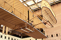 Air and Space Museum, Wright Brothers, Washington, DC, District of Columbia, Wright Brothers Plane at the National Air & Space Museum of the Smithsonian Institution's gallery, Milestones of Flight.